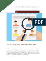 La Selección de Consultores Individuales en El Perú --- OSCE PERU
