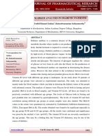 Biochemical Marker Analysis in Diabetic Patients