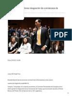 05/Enero/2019 Aprueban legisladores integración de comisiones de trabajo