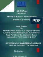 VU Project Final Finance Marketing Ratio Analysis