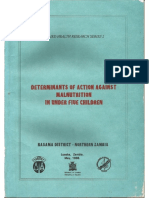 Determinants of Action Against Malnutrition