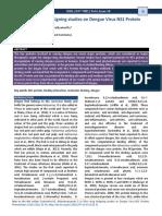 In Silico Drug Designing Studies on Dengue Virus NS1 Protein