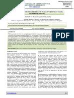 In Silico Drug Designing Studies on Dengue Virus NS2A Trans-membrane Domain