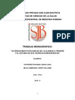 ALTERACIONES PATOLOGICAS DE LA GLANDULA TIROIDES Y EL ESTUDIO DE SUS TECNICAS RADIOGRAFICAS