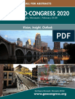 Geo Congress 2020 Call for Abstracts