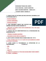 Cuestionario Segundo Bimestre Psicologia Clinica. 7-01-2019