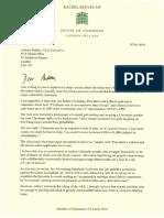 Andrew Bailey Provident Letter