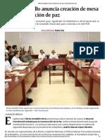 02-12-2018 Héctor Astudillo anuncia creación de mesa para construcción de la paz.