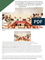 02-12-2018 Instala Gobernador Astudillo Coordinación Estatal de Reconciliación y Construcción de la Paz capítulo Guerrero.