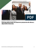 05-12-2018 Entrega Gobernador de Guerrero Proyectos de Obras a Diputados Federales.