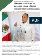 05-12-2018 Plantea Astudillo temas educativos en reunión de Conago con López Obrador.