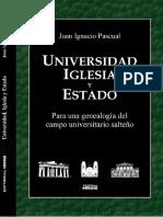 Juan Pascual - Universidad, Iglesia y Estado