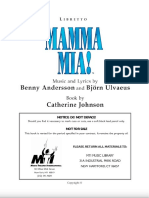 Mamma Mia The Musical Script - Stage