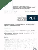 OS N 028 - Progressão Vertical Técnico de Limpeza Urbana