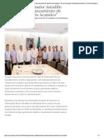 09-12-2018 Recibe Gobernador Astudillo Proyecto de Lanzamiento de Distrito Arte Acapulco.