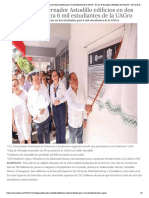 12-12-2018 Entrega Gobernador Astudillo Edificios en Dos Facultades Para 6 Mil Estudiantes de La UAGro.