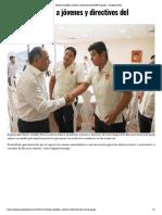 13-12-2018 Recibe Astudillo a jóvenes y directivos del CREN de Iguala.