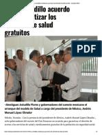 14-12-2018 Firma Astudillo Acuerdo Para Garantizar Los Servicios de Salud Gratuitos.