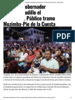 15-12-2018 Inaugura gobernador Héctor Astudillo el Alumbrado Público tramo Mozimba.