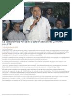 15-12-2018 Se Compromete Astudillo a Saldar Adeudo de CAPAMA Con CFE.