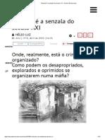 A Favela é a Senzala Do Século XXI - A Nova Democracia