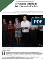 17-12-2018 Inaugura Astudillo sistema de alumbrado público Mozimba-Pie de la Cuesta.