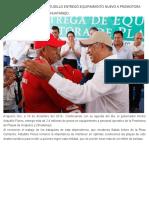 18-12-2018 El gobernador Héctor Astudillo entregó equipamiento nuevo a Promotora de Playas de Acapulco y Zihuatanejo.