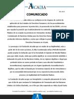 Comunicado de la Fundación Arcadia sobre visita de Michelle Bachelet a Venezuela después del 10 de enero