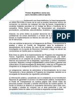 Trenes Argentinos Suma Una Nueva Iniciativa