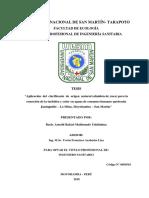 Arnold Rafael Maldonado Ushiñahua Tesis Aplicación del clarificante de origen natural (almidón de yuca) para la remoción de la turbidez y color en aguas de consumo humano