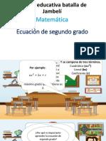 Ecuacion de Segundo Grado Matematicas