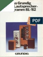 Grundig Hifi Boxen 1981
