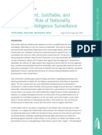 The Important, Justifiable, and Constrained Role of Nationality in Foreign Intelligence Surveillance