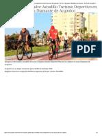 23-12-2018 Impulsa Gobernador Astudillo Turismo Deportivo en Zona Diamante de Acapulco.