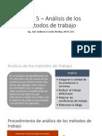 Tema 7 – Análisis de Los Métodos de Trabajo