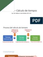 Tema 24 – Cálculo de Tiempos