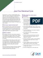 Fact Sheet Menstrual Cycle