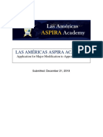 Las Americas ASPIRA Academy Major Modification Application