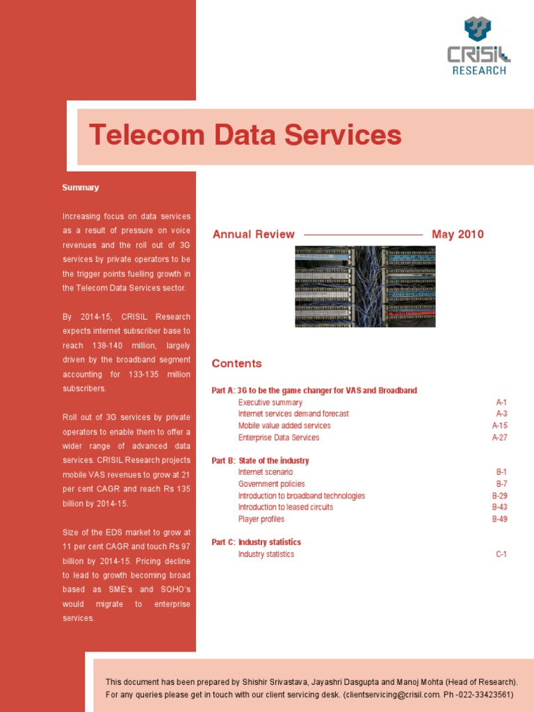 Research Industry Information Report Telecom Data Serv Contents Voice Changer Circuit Internet Access Wi Max