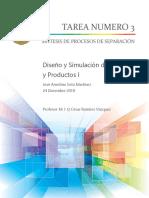 Tarea #3 Duseño y simulacion de procesos