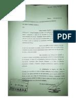 Notas presentadas por Cagliardi a Nedela