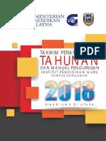 Takwim Perancangan Tahunan Dan Manual Pengurusan 1pgkda 2018