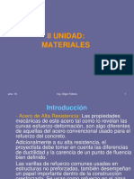 II) Materiales