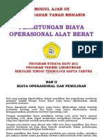 05-Perhitungan Biaya Operasional Alat Berat