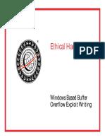 Module 31 Windows Based Buffer Overflow Exploit Writing