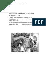 El Almohadón de Plumas - Plan de clases