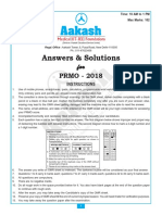 PRMO 2018 Answer Solutions