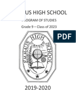 2019-2020 EHS 9th Grade Program of Studies