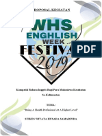 New Cover Proposal English Week Festival 2019