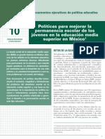 INEE-MX 2018 Doc política educativa 10 Permanencia Escolar